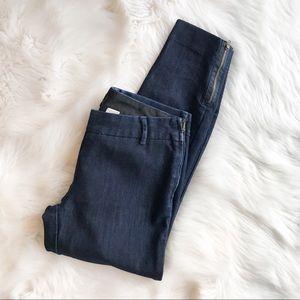 J. Crew City Fit Ankle Zip Jeans